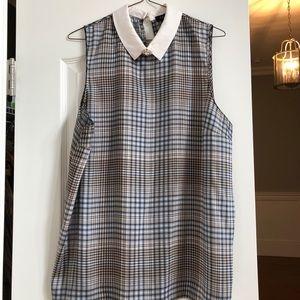 Checkered sleeveless top